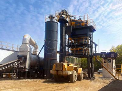 Mobile Asphalt Forced Mixing Plant